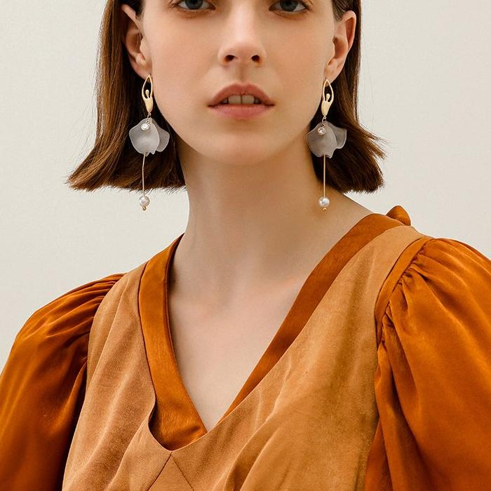 CHIC NYC face thin earrings female long tassel earrings 2019