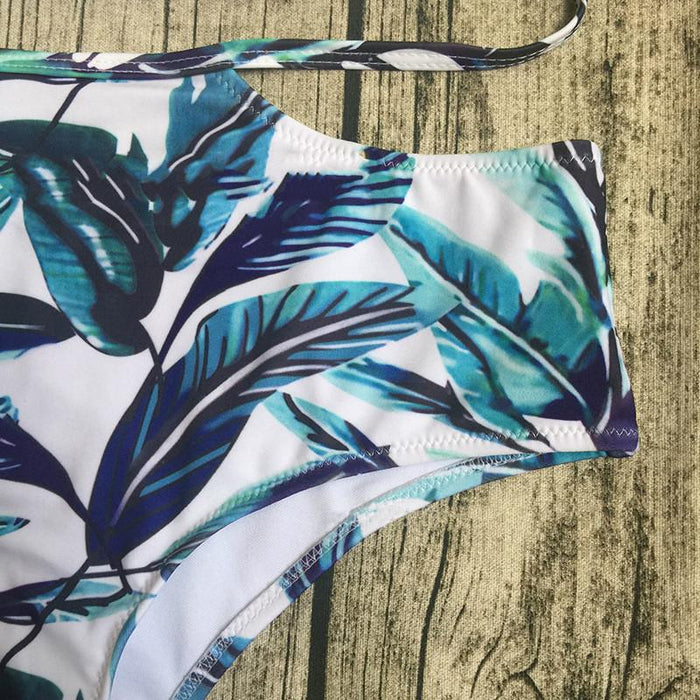 Off the Shoulder High Waisted Palms 2 Piece - Small - XXL Available