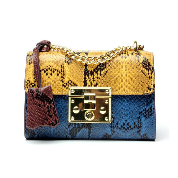 Serpentine Genuine Leather Women Handbag  - Choose your Color - WISH LIST Favorite