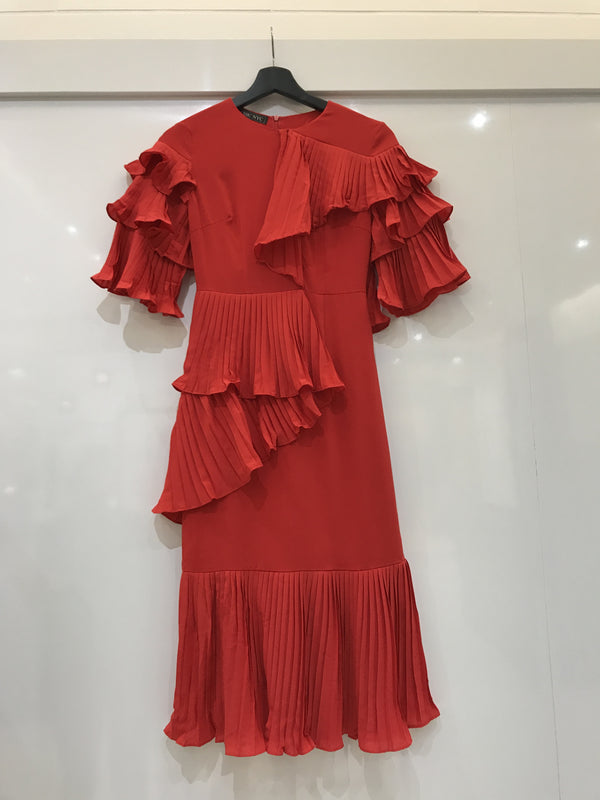 Red Ruffled Dress - Limited Edition - 1 of Each Size Available