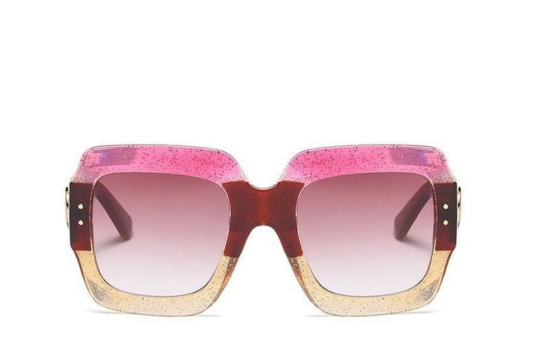 Perfectly Square Glitter Eye Wear - 5 Color Options - Oversized Square