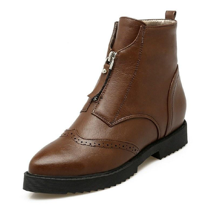 Ankle Boots - Brown, Black or Dark Green