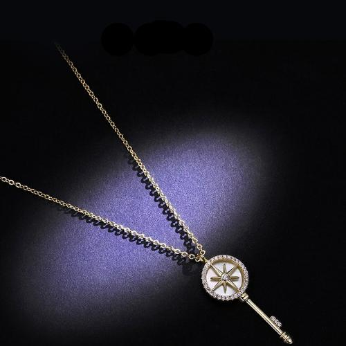 CHIC NYC Key Necklace Female Cold Wind Clavicle Chain Simple Wild Couple Pendant