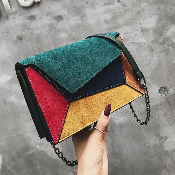 CHIC NYC Runway Luxury Crossbody Colorful Splicing Bags