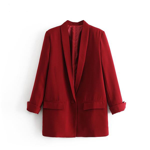 CHIC NYC Runway Blazer Suit Casual Solid Color