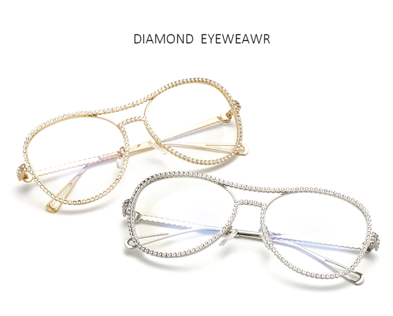 Diamond Clear Frames - 3 Color Options