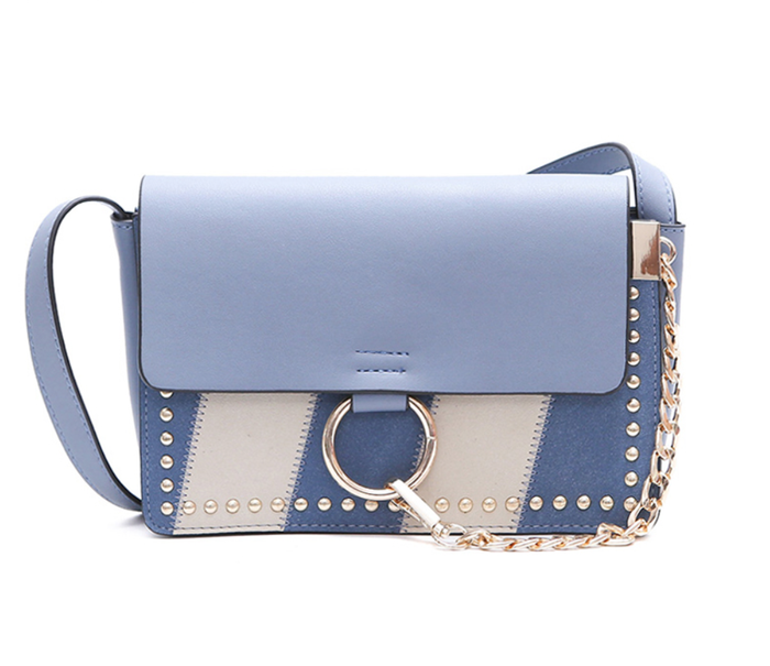 Khloe Handbag - Blue or Black/Brown