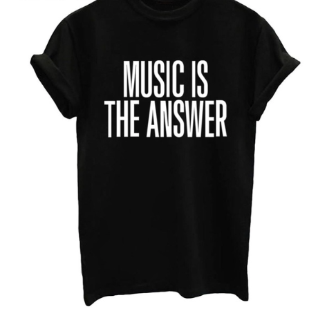 Music is the Answer For A Cause - Black, White or Gray