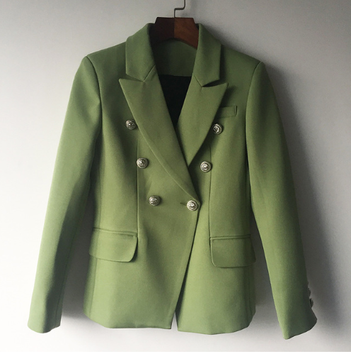 Green with Gold Details Blazer