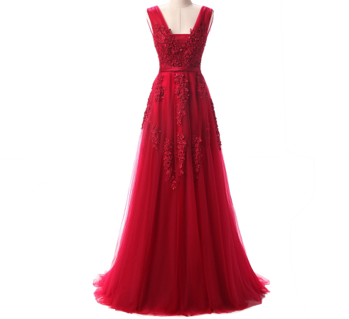 Perfect Red Gown - Lace, Tulle with Beautiful Detail