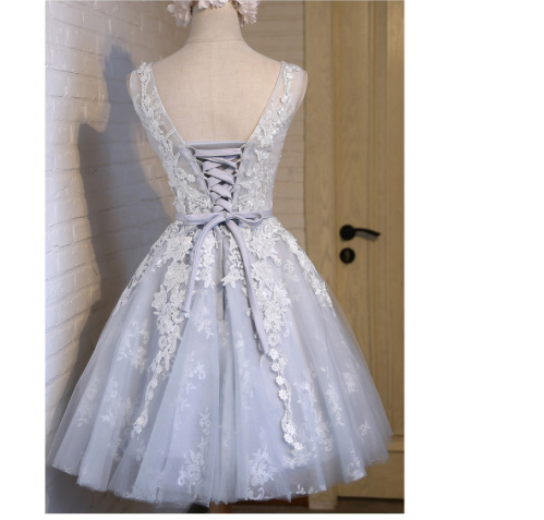 A Touch of Sparkle Gown - Above the Knee - Entire Dress Sparkles - Rose or Ice Grey Colors - Sizes 2 through 16