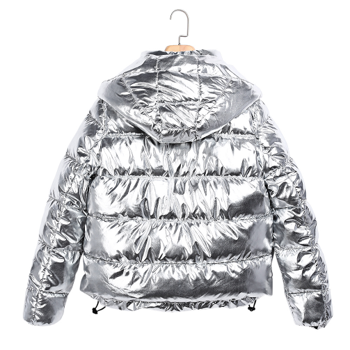 Chrome Puffy Jacket - Hooded - Small, Med and Large