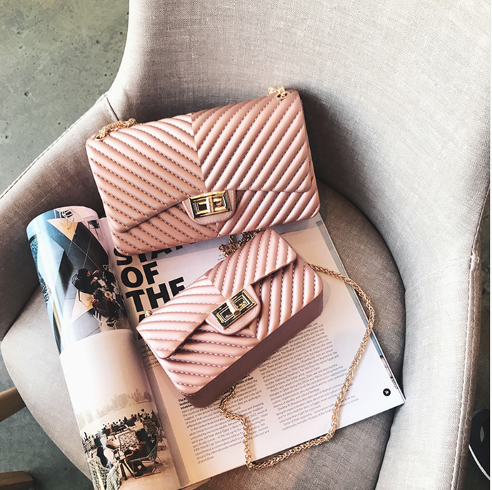 A perfect Pleated Handbag - Silicone - Rose gold and 4 other color options