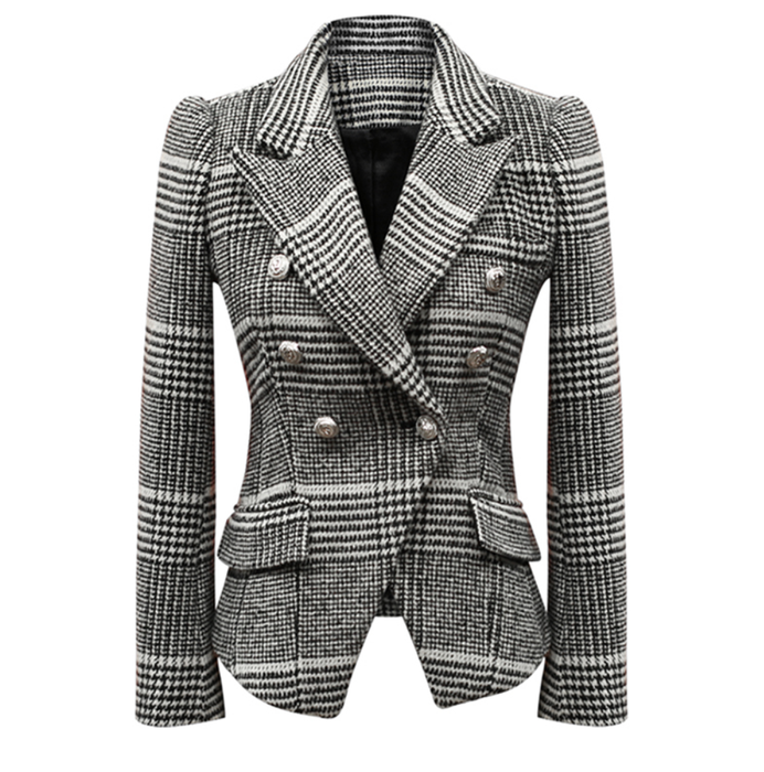 Black and White Plaid Blazer - New Arrival - Small, Med and Large