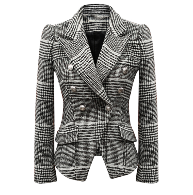 Black and White Plaid Blazer - New 2018 Arrival - Small, Med and Large