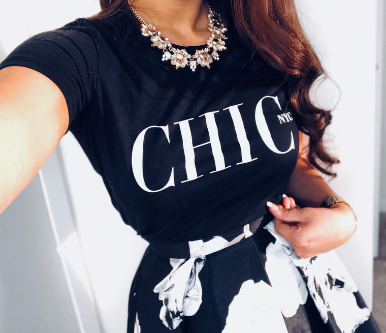CHIC NYC Tee Shirt - SUMMER '19 EDITION VOGUE - RED - Buy for a chance to WIN FASHION SHOW TICKETS