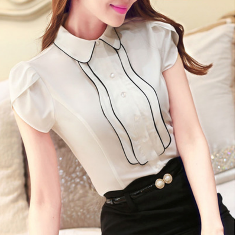Wall Street Collared Woman's Shirt