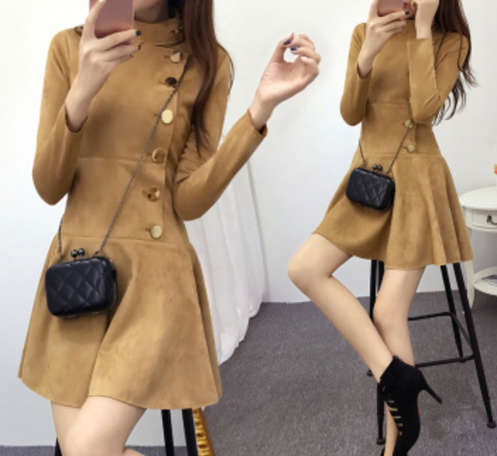 Ivanka Dress - Khaki Brown or Black