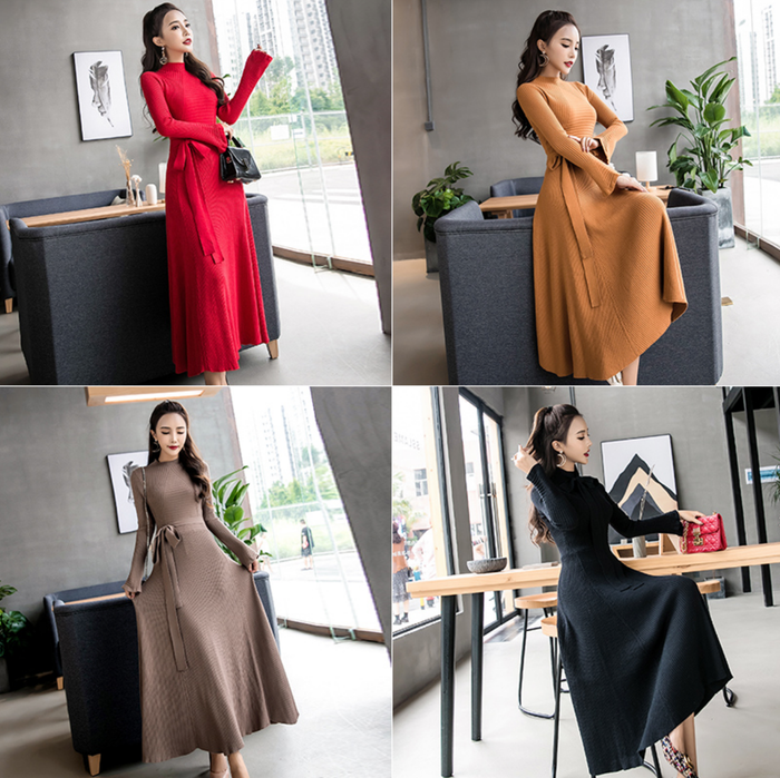 Drew Dress - Black, Red, Tan or Camel Brown