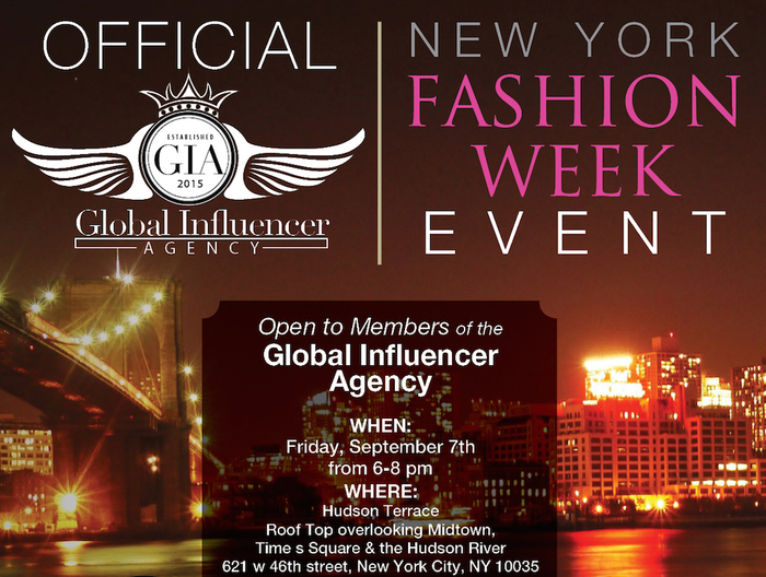Sept. 7th, 2018 New York Fashion Week Fashion Industry Networking Event & Meet Up