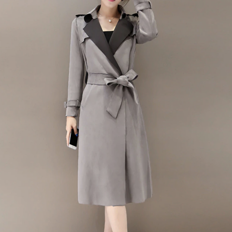 CHIC NYC 2018 New Autumn Suede Trench Coat