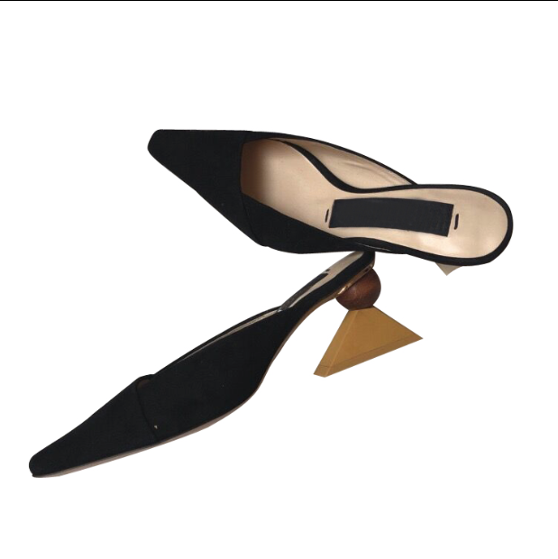 CHIC NYC High Heel Leather Slippers
