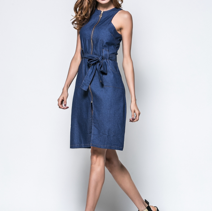 CHIC NYC Sleeveless Denim Dress