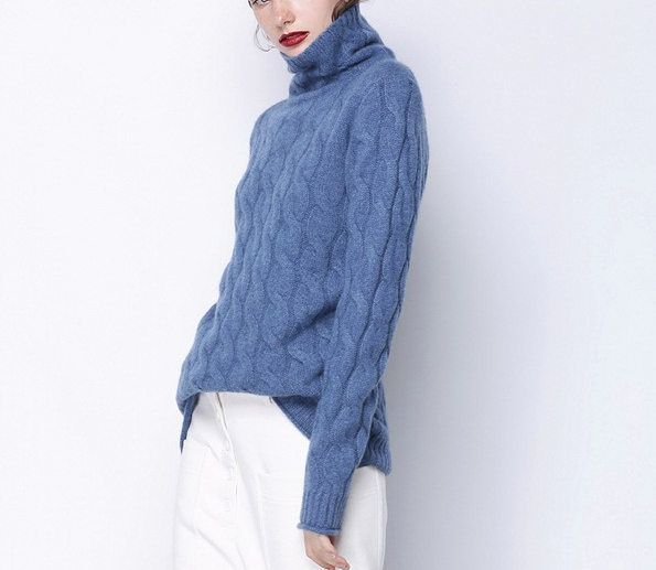 CHIC NYC Ladies Casual & High Collar Knit Sweater