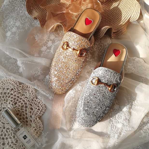 CHIC NYC Sequins / Half-Slip Slippers