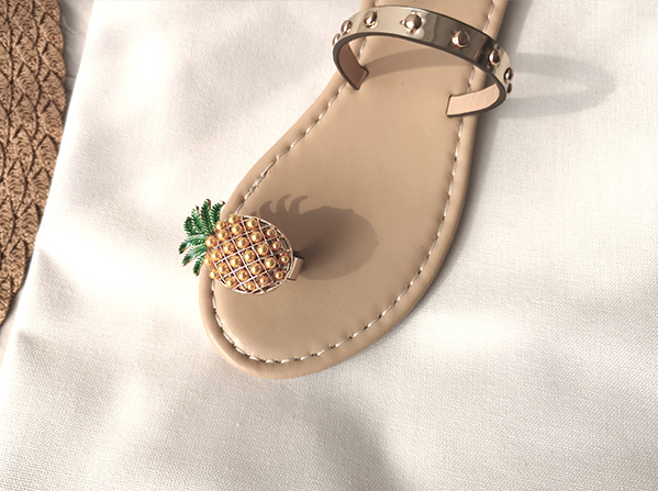 CHIC NYC Pineapple Pearl Slippers