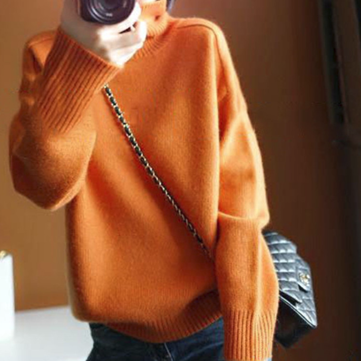 CHIC NYC High Collar Cashmere Short Sweater