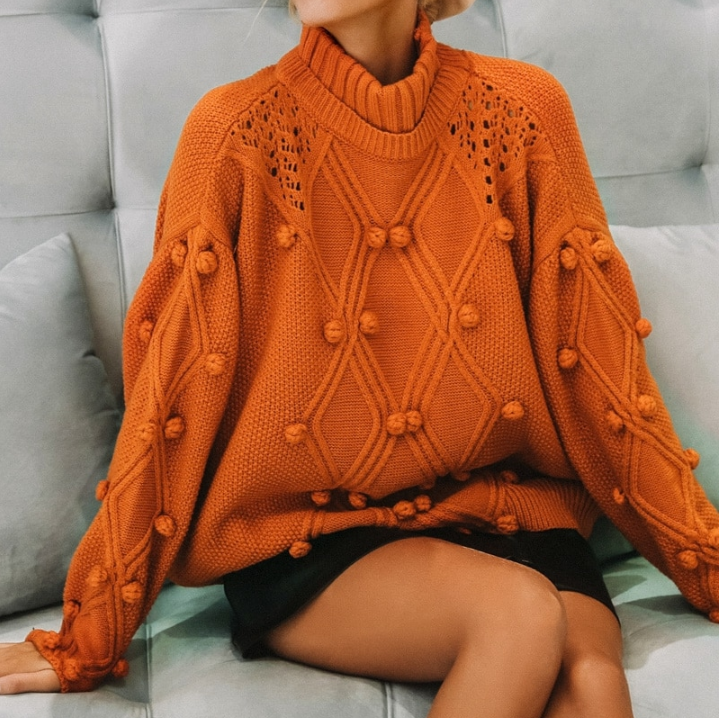 CHIC NYC Knitted & Casual Long Sleeve Sweater