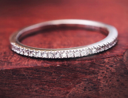 Chic NYC 925 Sterling Silver Thin Eternity Ring