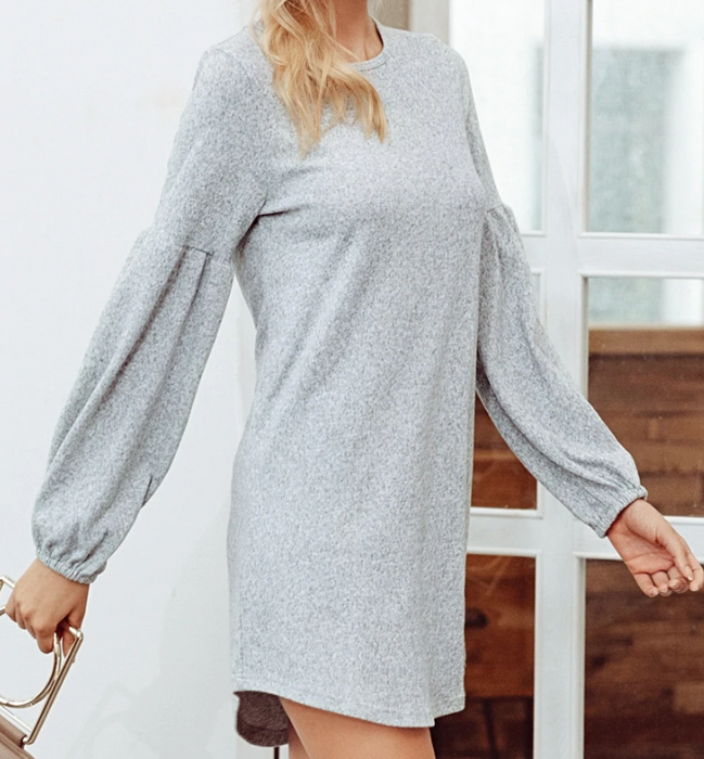 CHIC NYC Lantern Sleeve Knit Sweater