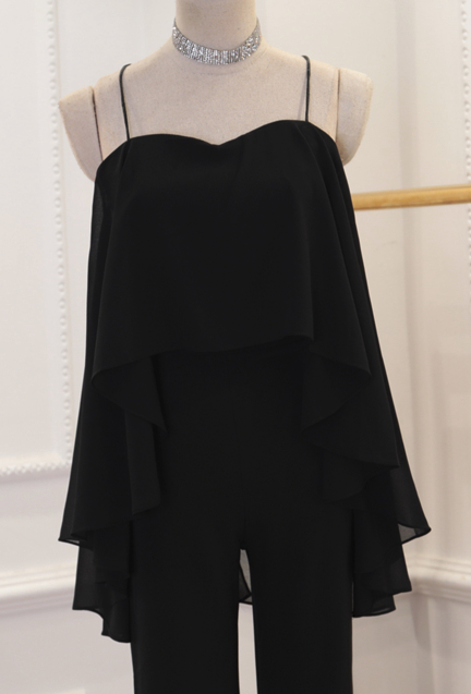 CHIC NYC Hanging Neck Backless Top + High Waist Flare Pants