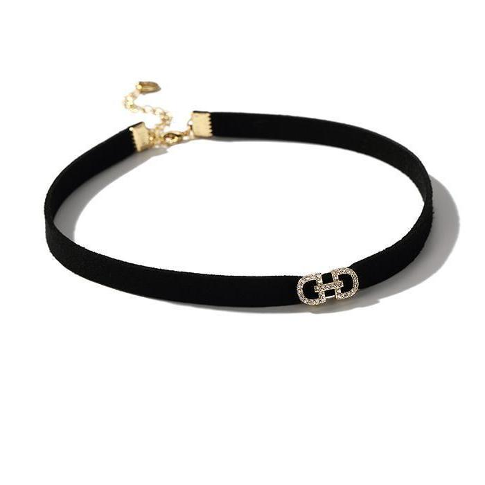CHIC NYC Choker Necklace Female Black Rope Gold&Silver