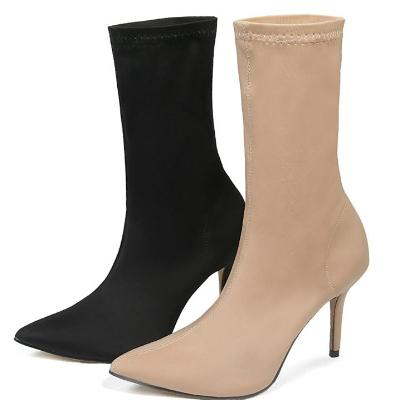 CHIC NYC Stretch Sock Stiletto Heel Boots