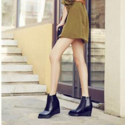 CHIC NYC Fashion Wedge Heel Ankle Boots