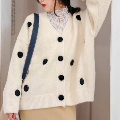 CHIC NYC V-Neck Sweater With Dots