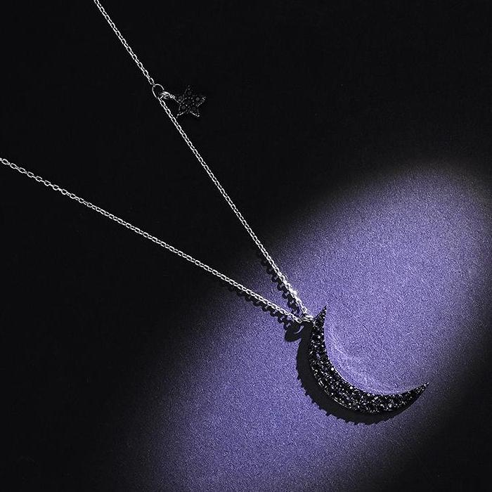 CHIC NYC Moon Pendant Necklace
