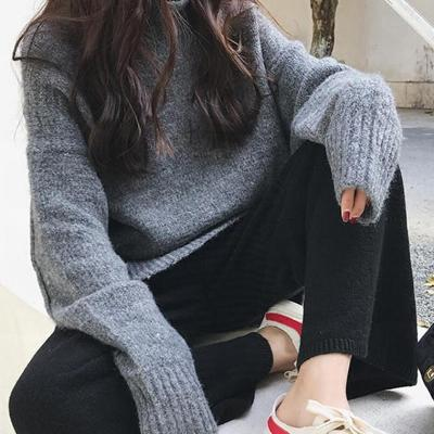 CHIC NYC High Collar Loose Sweater