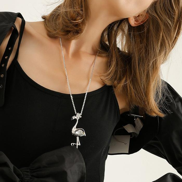 CHIC NYC Ornament Necklace CHIC Flamingo Pendant