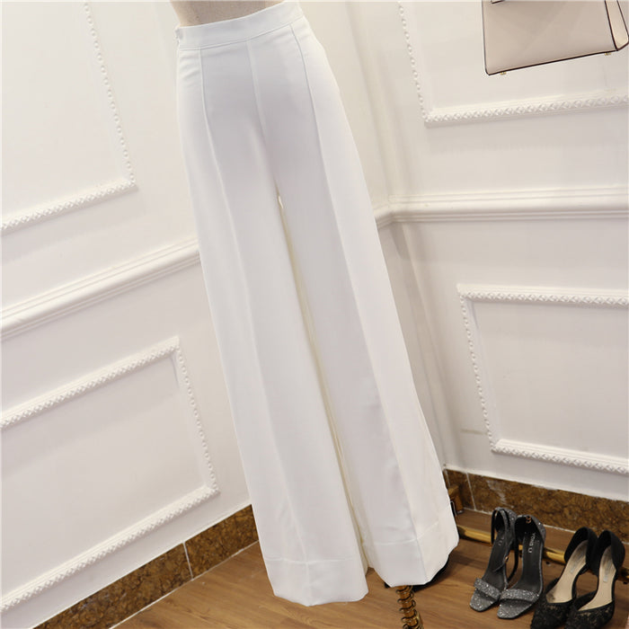 CHIC NYC Chiffon Scarves Irregular Top + High Waist Pant