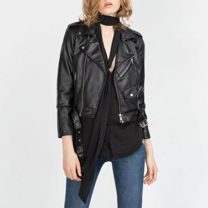 CHIC NYC Leather Zip Top