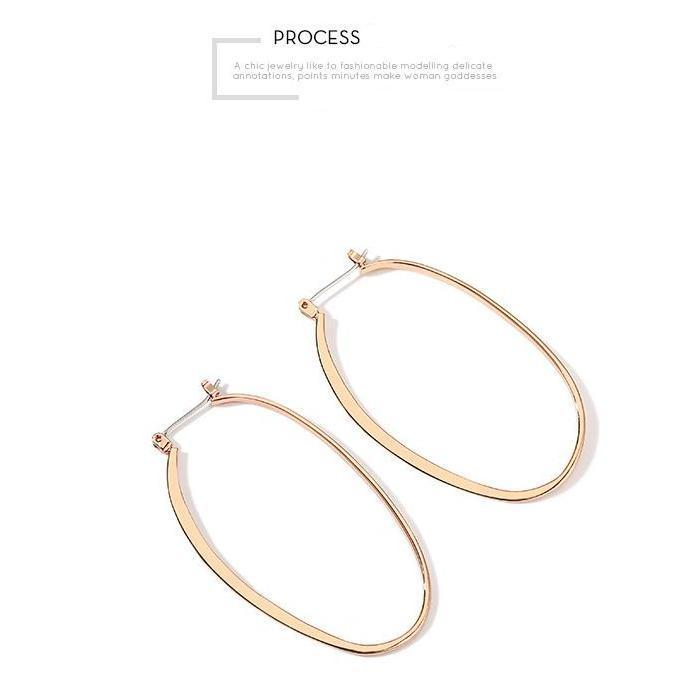 CHIC NYC Cool Wind Circle Gold Plated Earrings 2019
