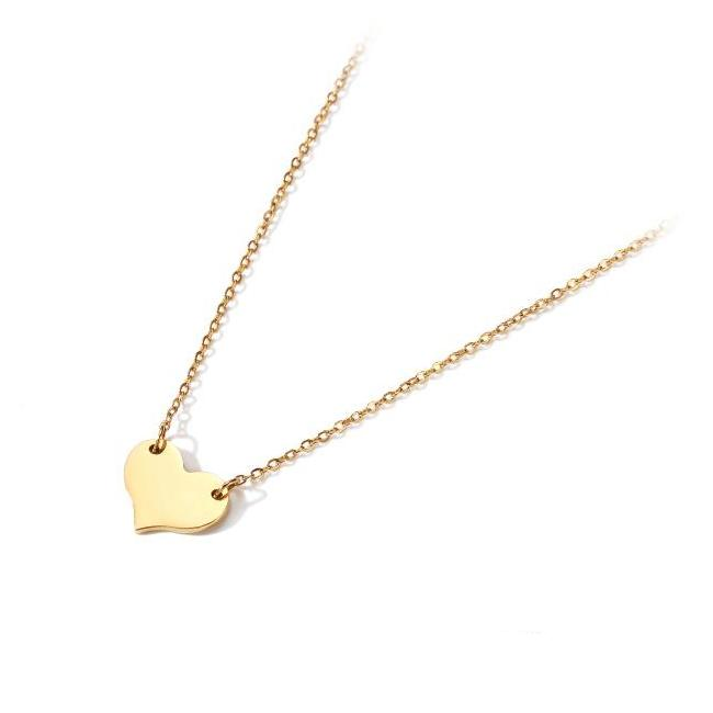CHIC NYC Love Necklace Female Clavicle Chain Simple NYC Heart-Shaped Pendant