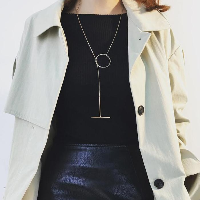 CHIC NYC Wild Long High Collar Sweater Chain Accessories Jewelry