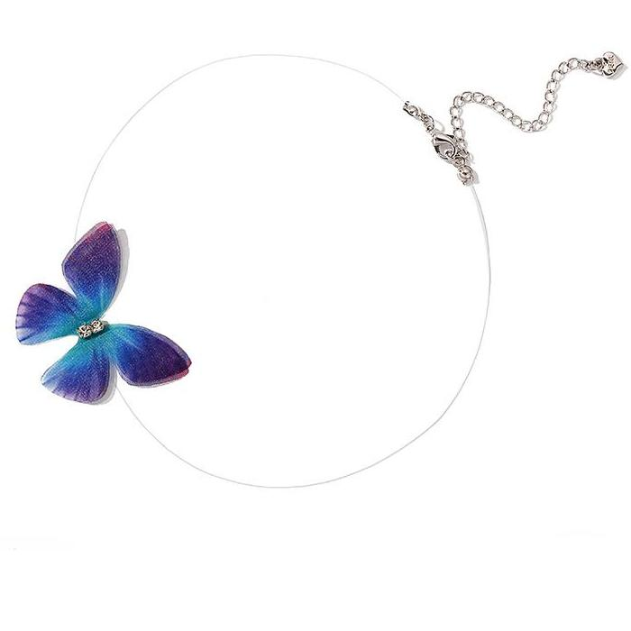 CHIC NYC Fishing Line Butterfly Necklace Female Chic Chain