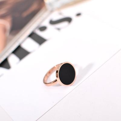 Designer Inspired Rings - Choose your Style - Luxury Zircon Crystal Inlay Black Ring for Woman - Stainless Steel Jewelry