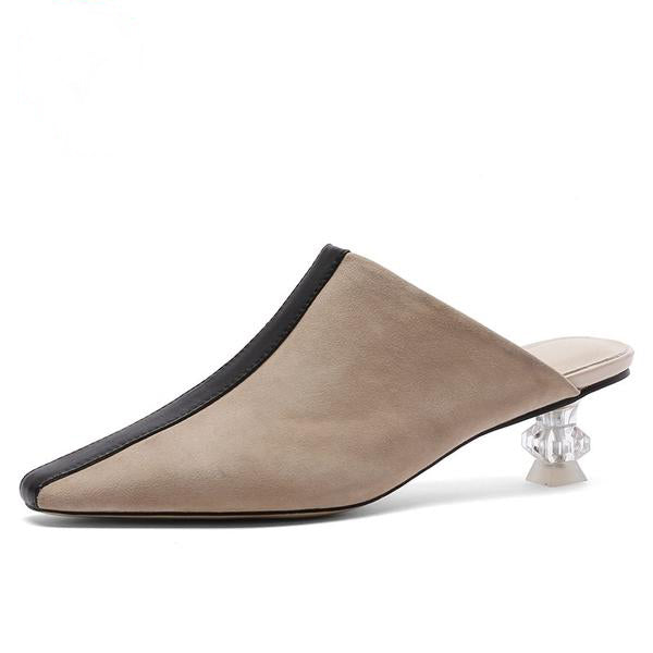 CHIC NYC Runway Square Toe Slippers